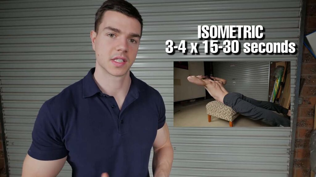 isometric lower back at home